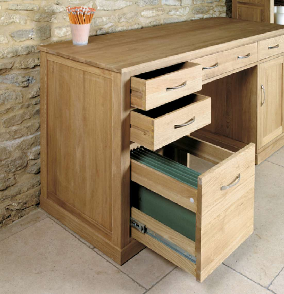 home office baumhaus mobel solid oak hidden home office